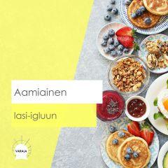 Aamiainen Lasi-igluun