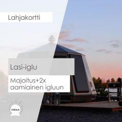 Lahjakortti Lasi-iglu + aamiainen 2x
